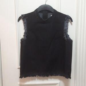 🛍️ Black jean tank top